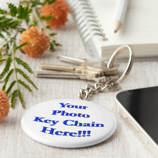 (Personalize) Your Custom Design or Image Basic Round Button Keychain