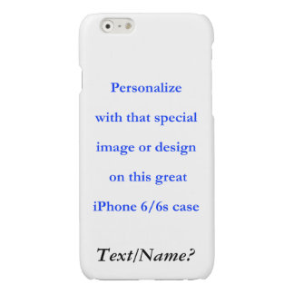 Personalize Your Custom Design or Image Black Text Glossy iPhone 6 Case