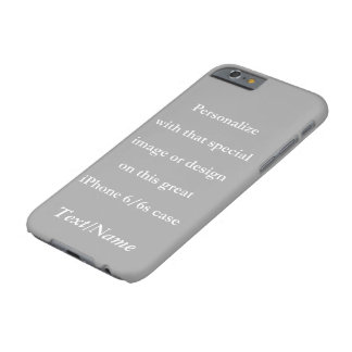 Personalize Your Custom Design or Image White Text Barely There iPhone 6 Case
