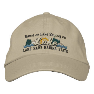 Personalize Your Embroidery Name LAKE or LAKE Name Embroidered Baseball Caps