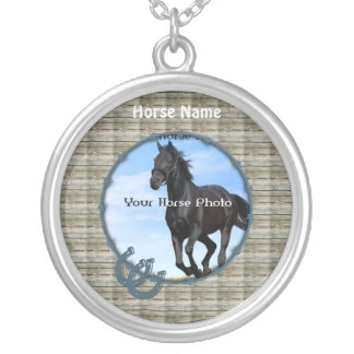 Personalize YOUR Horse Photo and Name Necklace