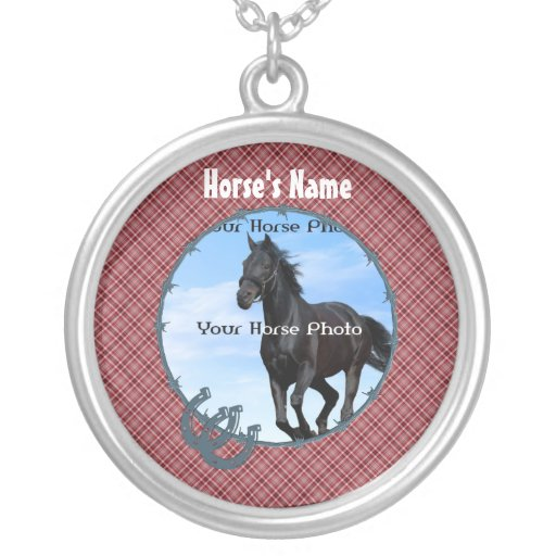 Personalize Your Horse's Photo and Name   Necklace