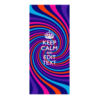 Personalize Your Keep Calm Text on Multicolored Rack Card