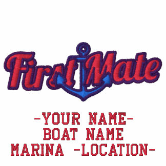 Personalize Your Name First Mate Anchor Embroidery Embroidered Hoody