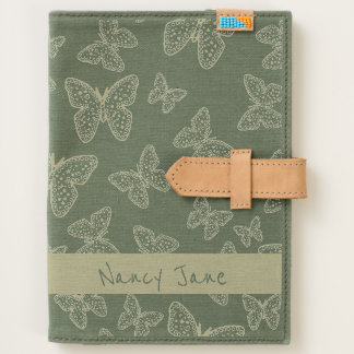 Personalize Your Name on Butterfly Doodle Collage Journal