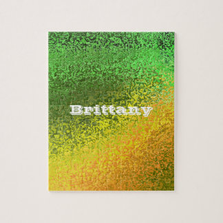 Personalize Your Name Shades Yellow Green Puzzle