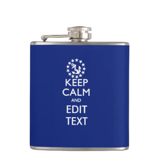 Personalize Your Nautical Keep Calm And Edit Text Flask