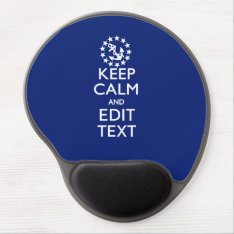 Personalize Your Nautical Keep Calm And Edit Text Gel Mouse Pad at Zazzle