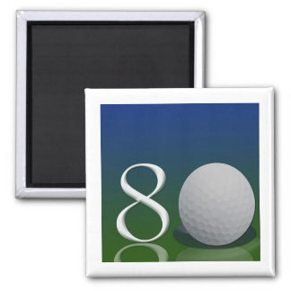Personalize your own 80 golf ball theme 2 inch square magnet