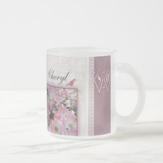 Personalize your own 80th birthday frosted glass coffee mug