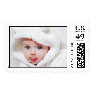 Personalize your own baby postage stamps