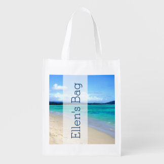 Personalize your own Beach bag Grocery Bags