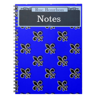 Personalize your own Bourbon Street Sign Spiral Note Book