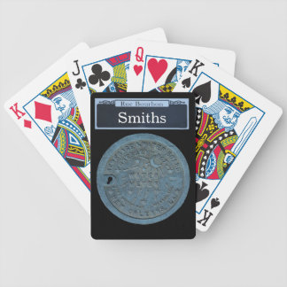 Personalize your own Bourbon Street Sign Bicycle Playing Cards
