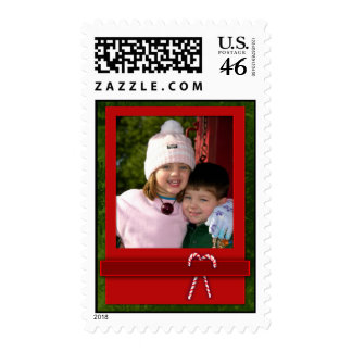 Personalize your own Christmas photo stamp
