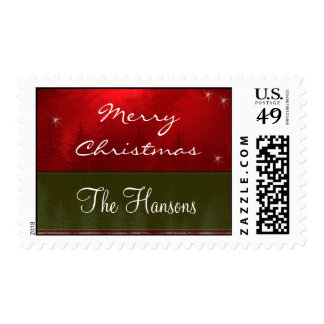 Personalize your own Christmas Postage