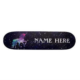 Personalize Your Own Colorful Magical Unicorn Skateboard