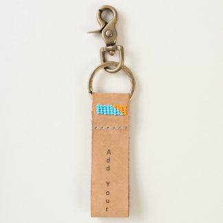 Personalize Your Own friend photo Leather Keychain
