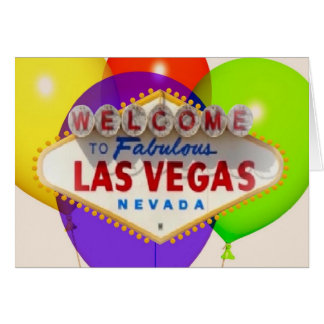 Personalize your own Las Vegas Card with Balloons!
