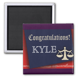 Personalize your own law school graduate design 2 inch square magnet