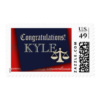 Personalize your own law school graduate design postage stamp