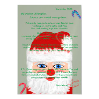Personalize Your Own Letter from Santa Claus Magnetic Card