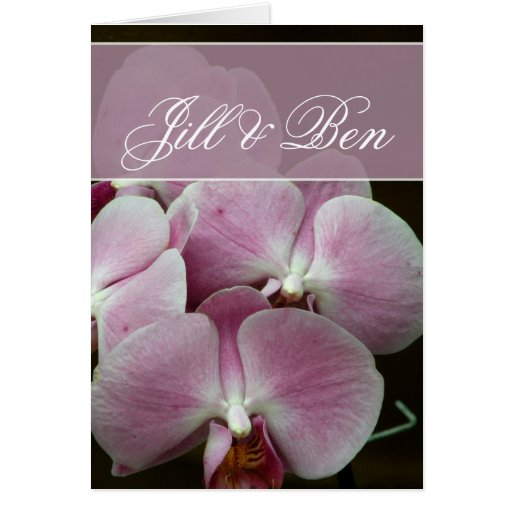 Personalize your own orchid design cards