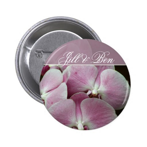 Personalize your own orchid design pin