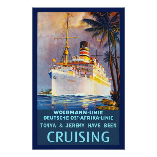 Personalize Your Own Vintage Cruising Poster