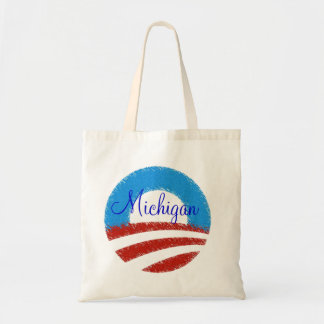 Personalize your state obama fan tote bag