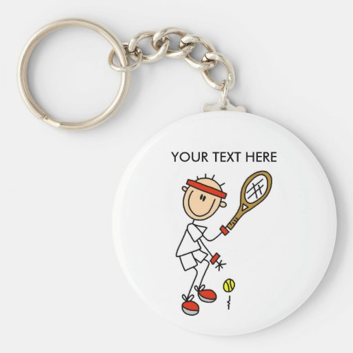 Personalize Yourself Men's Tennis Keychain