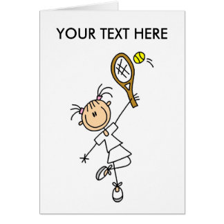 Personalize Yourself Men's Tennis Notecard