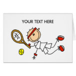 Personalize Yourself Men's Tennis Notecard Card