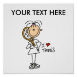 Personalize Yourself Men's Tennis Poster
