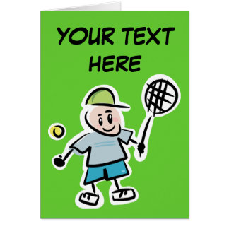 Personalize Yourself Tennis Card