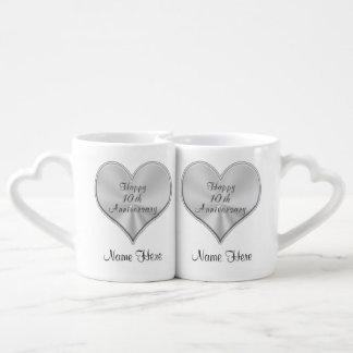 Personalized 10th Wedding Anniversary Gifts MUGS