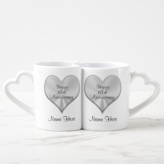 10th Anniversary Wedding Gifts: Personalized 10th Wedding Anniversary Gifts MUGS