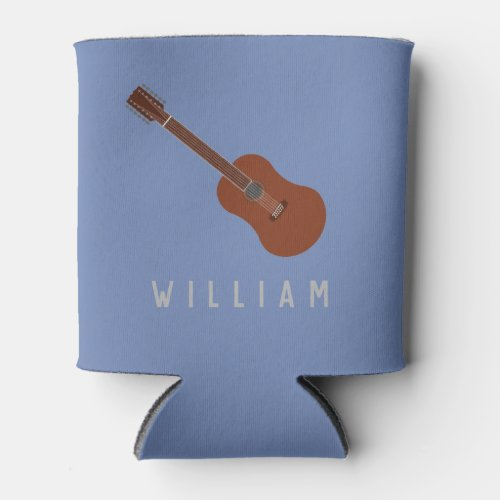 Personalized 12_String Guitar Can Cooler