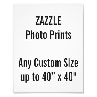 Personalized 180x230mm Photo Print, or custom size