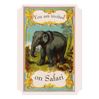 Personalized 1880s Blank Elephant Invitation