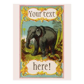 Personalized 1880s Blank Elephant Postcard