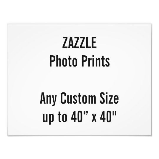 Personalized 18 X 14 Photo Print Or Custom Size Zazzlecom