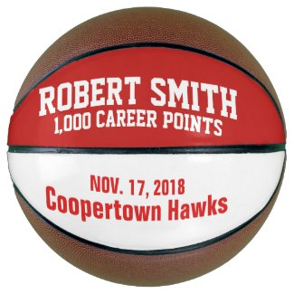Personalized 1,000 Point Basketball