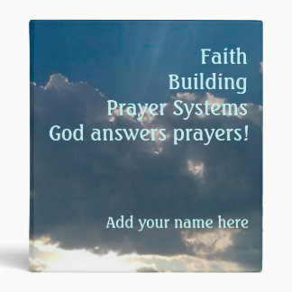 """Personalized 1"""" Faith Building Prayer Systems Bind Binder"""
