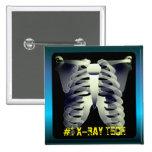 Personalized #1 X-Ray Tech Pinback Button