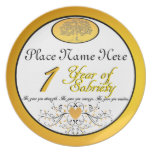 Personalized 1 Year of Sobriety Anniversary Plate