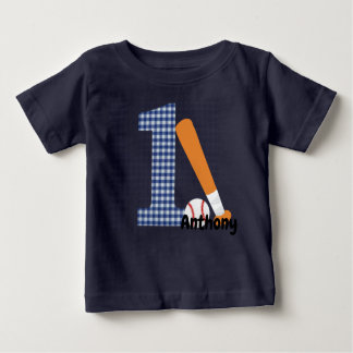 Personalized 1st Birthday Baseball Shirt