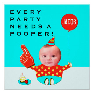 personalized 1st birthday party decoration poster