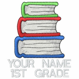 Personalized 1st Grade Embroidered Teacher Tee