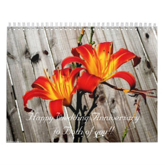 Personalized 2012 Flower Calendar